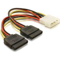 Delock 60102 2 x SATA HDD – 4pin apa Molex hálózati kábel - 0,15m (60102)