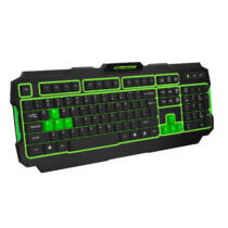 ESPERANZA GAMING KEYBOARD USB ILLUMINATED SHADOW GREEN (EGK202G)