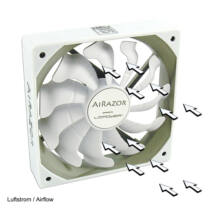 LC Power AiRazor - Computer case - Fan - 12 cm - 500 RPM - 1200 RPM - 6.08 dB (LC-CF-120-PRO-WHITE)