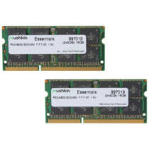 Mushkin SO-DIMM 16GB DDR3 Essentials - 16 GB - 2 x 8 GB - DDR3 - 1066 MHz - 204-pin SO-DIMM (997019)