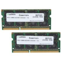 Mushkin SO-DIMM 16GB DDR3 Essentials - 16 GB - 2 x 8 GB - DDR3 - 1333 MHz - 204-pin SO-DIMM (997020)