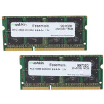 Mushkin SO-DIMM 16GB DDR3 Essentials - 16 GB - 2 x 8 GB - DDR3 - 1333 MHz - 204-pin SO-DIMM (997020)