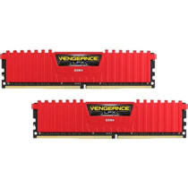 Corsair Vengeance 16GB DDR4 3000 MHz Kit - 16 GB - 2 x 8 GB - DDR4 - 3000 MHz - 288-pin DIMM - Red (CMK16GX4M2B3000C15R)