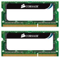 Corsair 16GB (2 x 8 GB) DDR3 1333MHz SODIMM - 16 GB - 2 x 8 GB - DDR3 - 1333 MHz - 204-pin SO-DIMM (CMSO16GX3M2A1333C9)