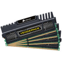 Corsair Vengeance Quad Channel 32GB DDR3-1600MHz - 32 GB - 4 x 8 GB - DDR3 - 1600 MHz - 240-pin DIMM (CMZ32GX3M4X1600C10)