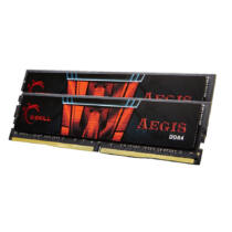 G.Skill 8GB DDR4-2400 - 8 GB - 2 x 4 GB - DDR4 - 2400 MHz - 288-pin DIMM - Black, Red (F4-2400C15D-8GIS)