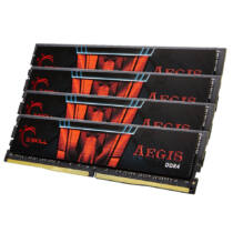G.Skill 64GB DDR4-2400 - 64 GB - 4 x 16 GB - DDR4 - 2400 MHz - 288-pin DIMM - Black, Red (F4-2400C15Q-64GIS)