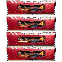 G.Skill Ripjaws 16GB DDR4-2666Mhz - 16 GB - 4 x 4 GB - DDR4 - 2666 MHz - 288-pin DIMM - Red (F4-2666C15Q-16GRR)