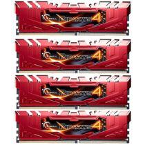 G.Skill Ripjaws 32GB DDR4-2666Mhz - 32 GB - 4 x 8 GB - DDR4 - 2666 MHz - 288-pin DIMM - Red (F4-2666C15Q-32GRR)