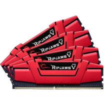 G.Skill Ripjaws V - 32 GB - 4 x 8 GB - DDR4 - 3000 MHz - Black, Gold, Red (F4-3000C15Q-32GVR)
