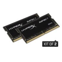 Kingston HyperX Impact HX432S20IBK2/64 - 64 GB - 2 x 32 GB - DDR4 - 3200 MHz - 260-pin SO-DIMM - Black (HX432S20IBK2/64)