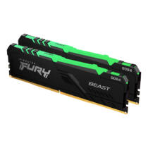 Kingston Technology FURY Beast RGB memóriamodul 32 GB 2 x 16 GB DDR4 2666 Mhz (KF426C16BBAK2/32)