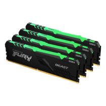 Kingston Technology FURY Beast RGB memóriamodul 128 GB 4 x 32 GB DDR4 3000 Mhz (KF430C16BBAK4/128)
