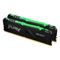 Kingston Technology FURY Beast RGB memóriamodul 64 GB 2 x 32 GB DDR4 3200 Mhz (KF432C16BBAK2/64)