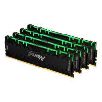 Kingston Technology FURY Renegade RGB memóriamodul 128 GB 4 x 32 GB DDR4 3200 Mhz (KF432C16RBAK4/128)