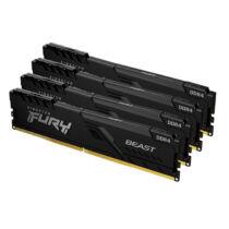 Kingston Technology FURY Beast memóriamodul 64 GB 4 x 16 GB DDR4 3600 Mhz (KF436C18BBK4/64)