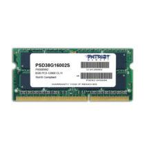 PATRIOT Memory 8GB PC3-12800 - 8 GB - 1 x 8 GB - DDR3 - 1600 MHz - 204-pin SO-DIMM (PSD38G16002S)