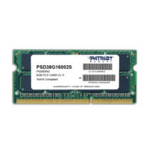 PATRIOT Memory 8GB PC3-12800 - 8 GB - 1 x 8 GB - DDR3 - 1600 MHz - 204-pin SO-DIMM (PSD38G16002S)