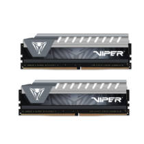 PATRIOT Memory Viper Elite Series 16GB DDR4 2666MHz Dual Kit - 16 GB - 2 x 8 GB - DDR4 - 2666 MHz - 288-pin DIMM - Black, Grey (PVE416G266C6KGY)
