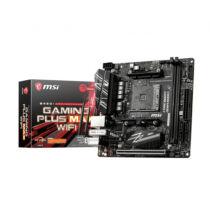 MSI B450I GAMING PLUS MAX WIFI - AMD - Socket AM4 - AMD Ryzen 3 - AMD Ryzen 5 - AMD Ryzen 7 - 3rd Generation AMD Ryzen 9 - DDR4-SDRAM - DIMM - 1866, 2133, 2400, 2667, 2800, 2933, 3000, 3066, 3200, 3466 MHz (7A40-017R)