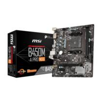 MSI B450M-A PRO MAX - AMD - Socket AM4 - AMD A, AMD Athlon X4, AMD Ryzen - Socket AM4 - DDR4-SDRAM - DIMM (7C52-001R)