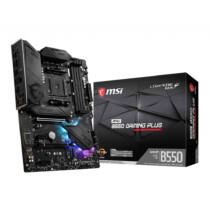 MSI MPG B550 Gaming Plus - AMD - Socket AM4 - AMD Ryzen - DDR4-SDRAM - DIMM - 1866, 2133, 2400, 2667, 2800, 2933, 3000, 3066, 3200, 3466, 3600, 3733, 3866, 4000, 4133, 4266, 4400 MHz (7C56-003R)