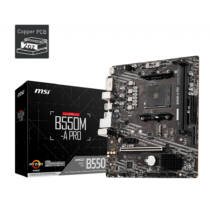 MSI B550M-A PRO B550 - AMD Socket AM4 (Ryzen) - Micro/Mini/Flex-ATX (7C96-006R)