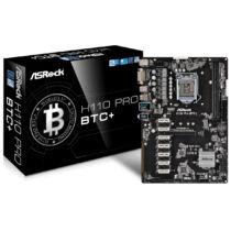 ASRock H110 Pro BTC+ - Intel - LGA 1151 (Socket H4) - Intel® Celeron® - DDR4-SDRAM - DIMM - 2133, 2400 MHz (90-MXB5S0-A0UAYZ)