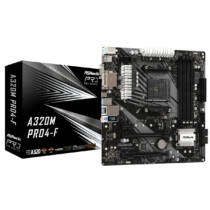ASRock A320M Pro4-F - AMD - Socket AM4 - AMD A, AMD Ryzen - DDR4-SDRAM - DIMM - 2133, 2400, 2667, 2933, 3200 MHz (90-MXBAA0-A0UAYZ)
