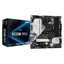 ASRock B550M Pro4 - AMD - Socket AM4 - AMD Ryzen - DDR4-SDRAM - DIMM - 2133, 2400, 2667, 2933, 3200, 3466, 3600, 3733, 3800, 3866, 4000, 4133, 4200, 4266, 4333, 4400, 4466, 4533 MHz (90-MXBDK0-A0UAYZ)