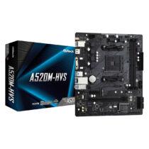 ASRock A520M-HVS - AMD - Socket AM4 - AMD Ryzen 3 3rd Gen - 3rd Generation AMD Ryzen 5 - 3rd Generation AMD Ryzen 7 - 3rd Generation AMD... - DDR4-SDRAM - DIMM - 2133, 2400, 2666, 2933, 3200, 3466, 3600, 3733, 3800, 3866, 4000, 4133, 4200, 4266, 4333, 440