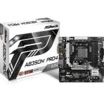 ASRock AB350M Pro4 mATX Motherboard - AM4 AMD B350 - 64 GB DDR4 (90-MXB520-A0UAYZ)