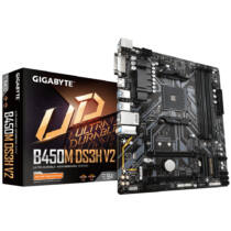 Gigabyte GiBy B450M DS3H V2 B450 - Motherboard - AMD Socket AM4 (Ryzen) (B450M DS3H V2)
