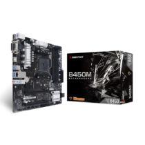Biostar B450MX alaplap AMD B450 AM4 foglalat Micro ATX (B450MX)