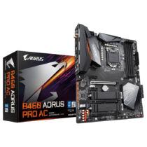 Gigabyte B460 AORUS PRO AC - Intel - LGA 1200 - Intel® Celeron® - Intel® Core™ i3 - Intel Core i5 - Intel Core i7 - Intel Core i9 - Intel® Pentium® - DDR4-SDRAM - DIMM - 2133, 2400, 2666, 2933 MHz (B460 AORUS PRO AC)