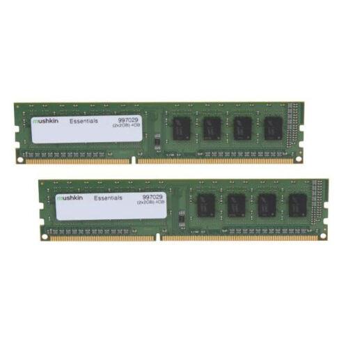 Mushkin DIMM 4GB DDR3 Essentials - 4 GB - 2 x 2 GB - DDR3 - 1600 MHz - 240-pin DIMM (997029)