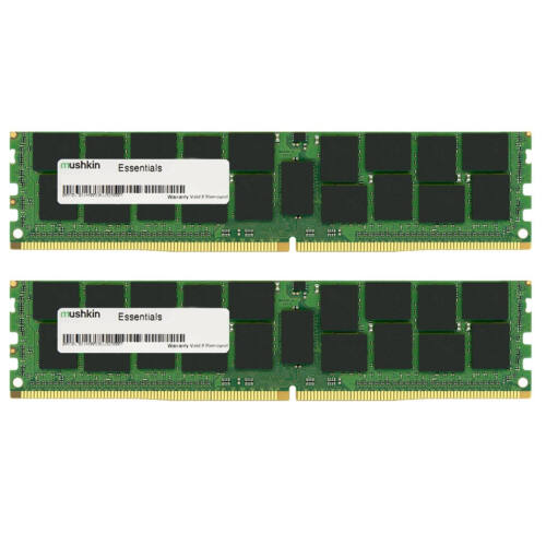 Mushkin Essentials 8GB DDR4 - 8 GB - 2 x 4 GB - DDR4 - 2133 MHz - 288-pin DIMM - Black, Green (997182)
