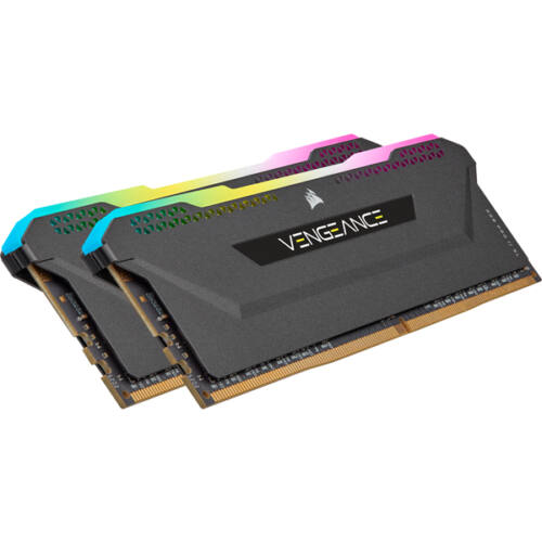 Corsair Vengeance RGB PRO DDR4 3600Mhz 16GB 2x8GB Black - 16 GB (CMH16GX4M2D3600C18)