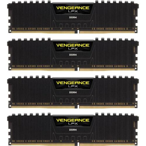 Corsair Vengeance LPX 64GB DDR4-2666 - 64 GB - 4 x 16 GB - DDR4 - 2666 MHz - 288-pin DIMM - Black (CMK64GX4M4A2666C16)