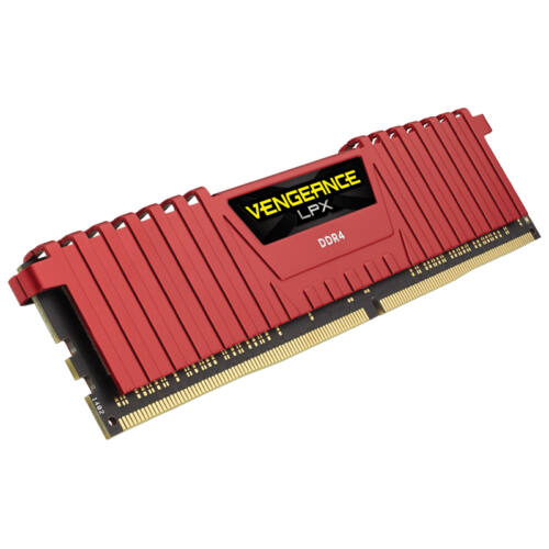Corsair 8GB DDR4-2400 - 8 GB - 1 x 8 GB - DDR4 - 2400 MHz - 288-pin DIMM - Red (CMK8GX4M1A2400C14R)