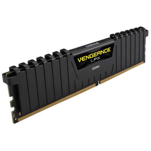Corsair Vengeance LPX 8GB DDR4-2400 - 8 GB - 2 x 4 GB - DDR4 - 2400 MHz - 288-pin DIMM - Black (CMK8GX4M2A2400C14)