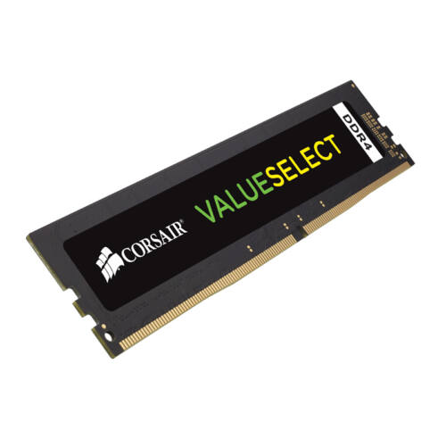 Corsair ValueSelect 8GB - DDR4 - 2400MHz - 8 GB - 1 x 8 GB - DDR4 - 2400 MHz - 288-pin DIMM - Black (CMV8GX4M1A2400C16)