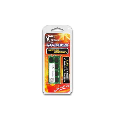G.Skill 8GB DDR3-1600 - 8 GB - 1 x 8 GB - DDR3 - 1600 MHz - 204-pin SO-DIMM (F3-1600C11S-8GSL)