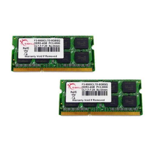G.Skill 8GB DDR3-1066 SQ - 8 GB - 2 x 4 GB - DDR3 - 1066 MHz - 204-pin SO-DIMM (F3-8500CL7D-8GBSQ)