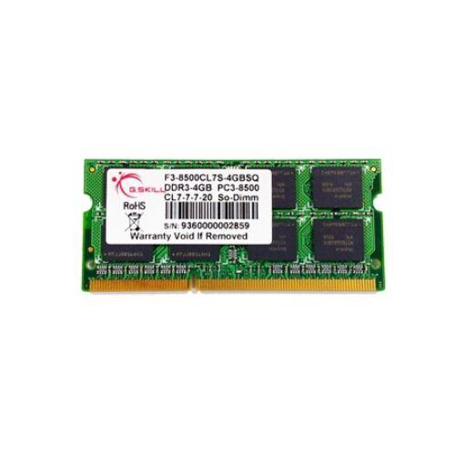 G.Skill 4GB DDR3 204-pin SO-DIMM - 4 GB - 1 x 4 GB - DDR3 - 1066 MHz - 204-pin SO-DIMM (F3-8500CL7S-4GBSQ)