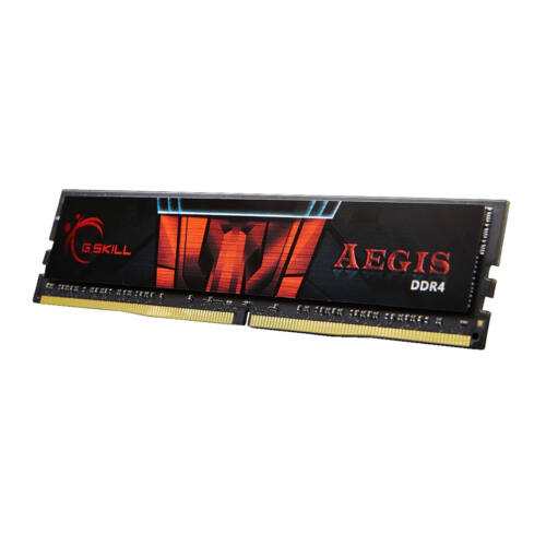 G.Skill 4GB DDR4-2400 - 4 GB - 1 x 4 GB - DDR4 - 2400 MHz - 288-pin DIMM - Black, Red (F4-2400C15S-4GIS)