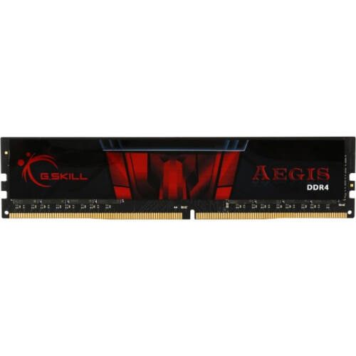 G.Skill 8GB DDR4-2800 - 8 GB - 1 x 8 GB - DDR4 - 2800 MHz - 288-pin DIMM - Black, Red (F4-2800C17S-8GIS)