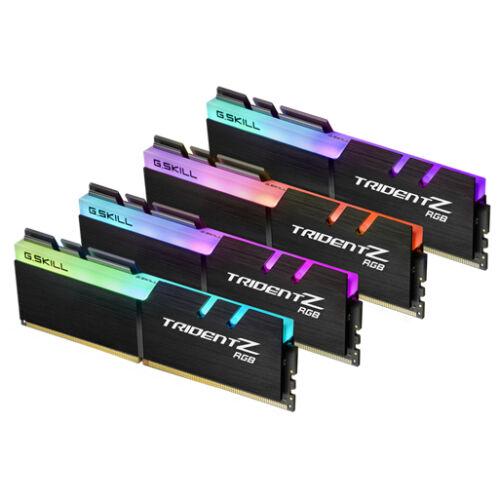 G.Skill Trident Z RGB 32GB DDR4 - 32 GB - 4 x 8 GB - DDR4 - 3200 MHz - 288-pin DIMM - Black (F4-3200C14Q-32GTZR)