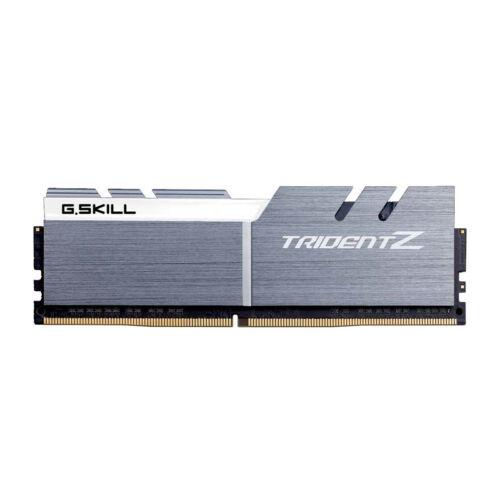 G.Skill Trident Z 32GB DDR4-3200Mhz - 32 GB - 4 x 8 GB - DDR4 - 3200 MHz - 288-pin DIMM - Aluminium, White (F4-3200C14Q-32GTZSW)