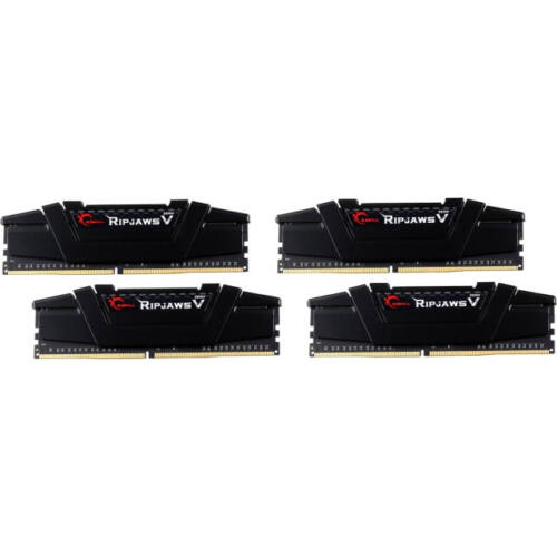 G.Skill 64GB (16GBx4) DDR4 Kit - 64 GB - 4 x 16 GB - DDR4 - 3200 MHz - 288-pin DIMM - Black (F4-3200C14Q-64GVK)